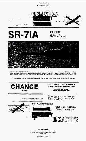 关于黑鸟飞行员的飞行手册